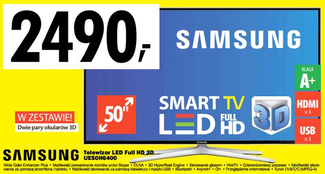 Samsung UE50H6400 - 2490 zł - raty 10x0% @ Media Expert