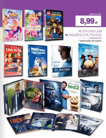 """Filmy na DVD albo książka z płytą DVD (""""Listy do M."""", """"Powrót do przyszłości"""", """"Szybcy i wściekli 7"""") @ Biedronka"""