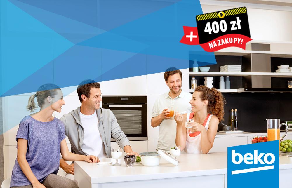 400zł na kolejne zakupy przy zakupie piekarnika + płyta indukcyjnej Beko @ Media Expert