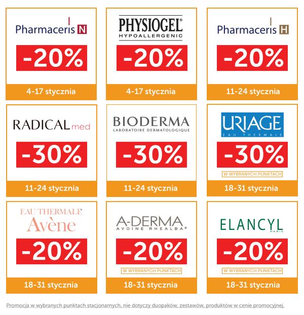 Do -30% na wybrane marki dermokosmetyczne @ Ziko Apteka