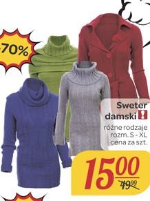 Damski sweter za 15zł (-70%) @ Carrefour