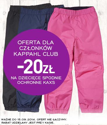 Dziecięce spodnie ochronne Kaxs 20 zł taniej @ KappAhl