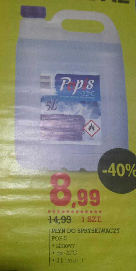 Zimowy płyn do spryskiwaczy -40% Intermarche