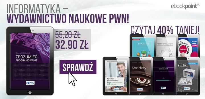 Ebooki informatyczne (PWN) 40% taniej @ ebookpoint.pl