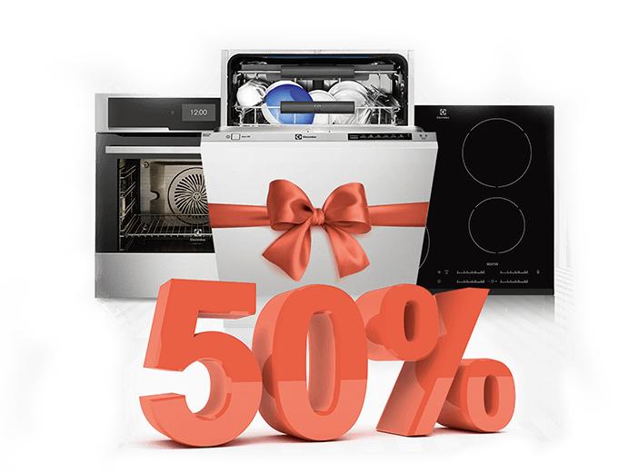 Zwrot do 50% najtańszego z 3 produktów Electrolux