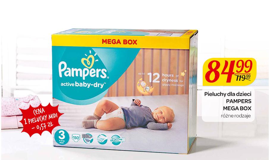 Pieluchy Pampers Mega Box za 84,99zł @ Carrefour