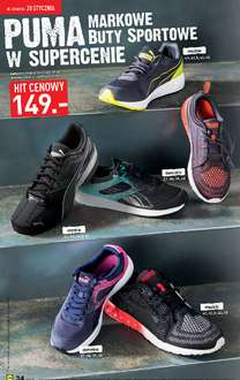 Buty sportowe Puma (damskie i męskie) w cenie 149zł  - różne modele @ Lidl
