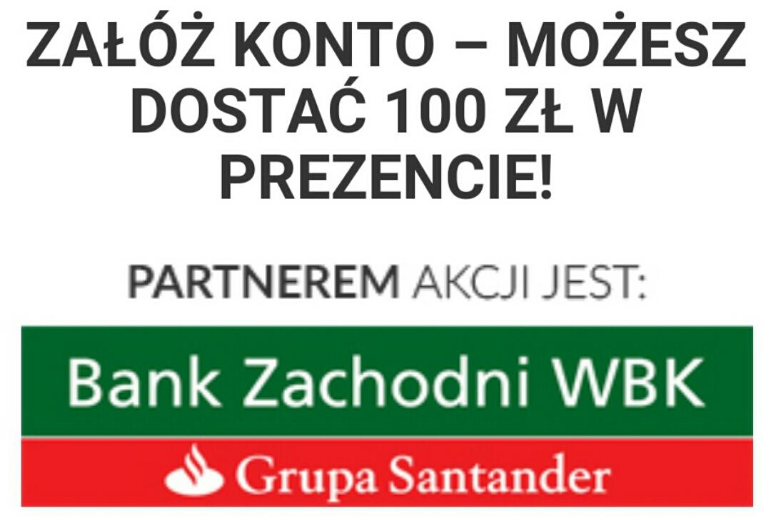 100 zł za założenie konta @ BZ WBK