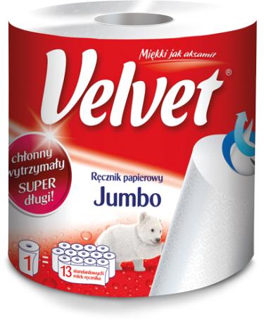 Ręcznik papierowy Velvet jumbo 9,99zł @ Delikatesy Centrum