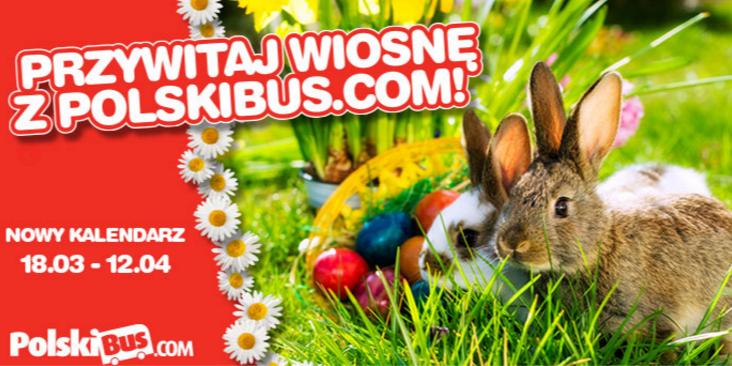 Bilety na wszystkie trasy od 1zł (+1zł opłaty rezerwacyjnej) na terminy od 18 marca do 12 kwietnia @ PolskiBus