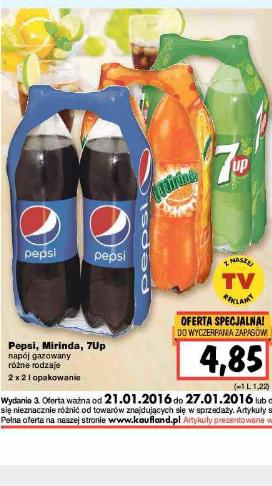 Pepsi Mirinda 7Up 2x2l @ Kaufland