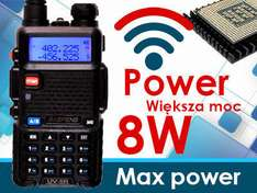 Radiotelefon BAOFENG UV-5R UP 8 WAT