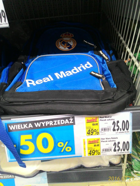Plecak Real Madryt i Star Wars za 25 zł @ Kaufland