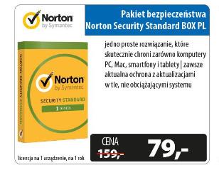 Norton Security Standard BOX (12 miesięcy) promocja 79 zł