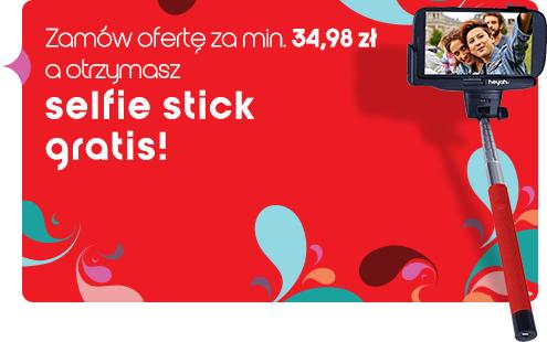 Selfie stick przy zamówieniu oferty za min. 34,98zł @ Heyah