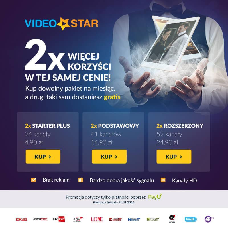 2 pakiety w cenie 1 @ videostar.pl