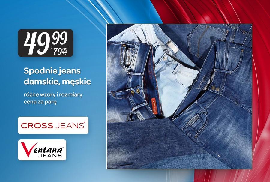 Spodnie Cross Jeans (damskie i męskie) za 49,99zł @ Carrefour