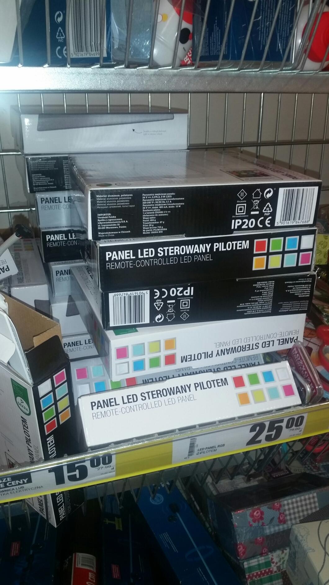 W Biedronce panel LED 68% taniej! Obniżka z 79 zł