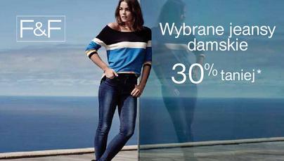 30% zniżki na damskie dżinsy @ F&F