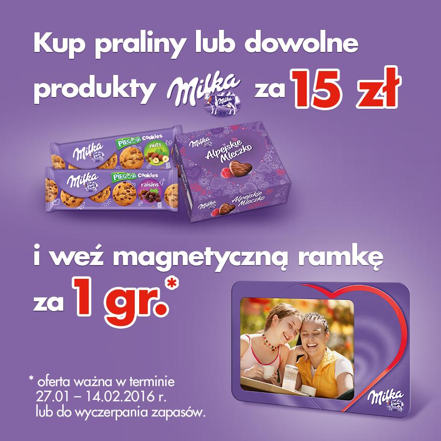 Magnetyczna ramka za 1GROSZ przy zakupie produktów Milka @ Carrefour