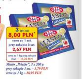 Masło Polskie 3szt. za 8zł @ Auchan
