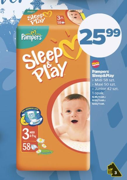 Pieluszki Pampers Sleep&Play za 25,99zł @ Netto