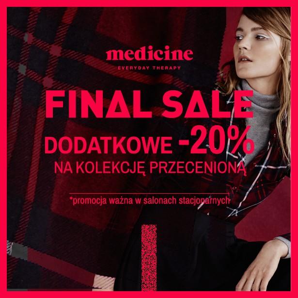 Dodatkowe 20% zniżki na przecenę @ Medicine