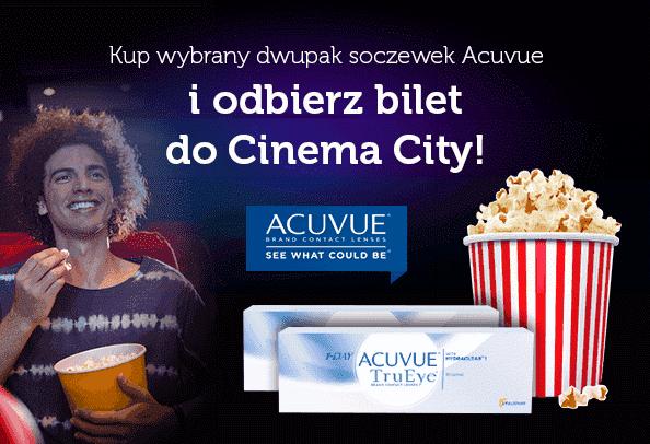 Bilet do kina Gratis przy zakupie dwupaku soczewek Acuvue @ Vision Express
