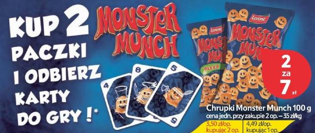 Karty do gry przy zakupie 2 paczek Monster Munch @ Tesco