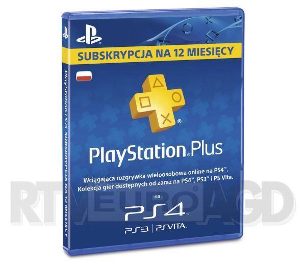 Abonament PlayStation Plus na 12 miesięcy za 179zł @ Euro