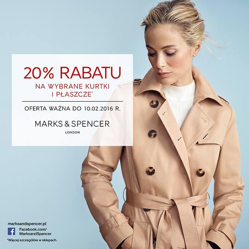 20% zniżki na kurtki i płaszcze @ Marks&Spencer