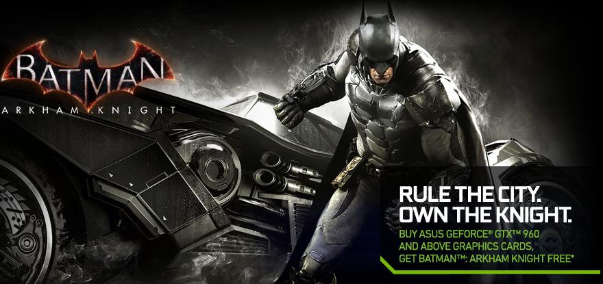 Darmowy Batman Arkham Knight dla posiadaczy kart Asus GTX960 i nowszych