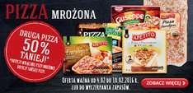 Druga pizza chłodzona lub mrożona -50% @ Biedronka