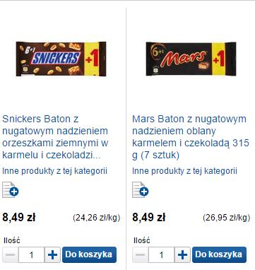 2 za mniej - promocje przy dostawie lub odbiorze osobistym (np. 14 Snickersów za 12zł - ~86groszy/szt.) @ Tesco