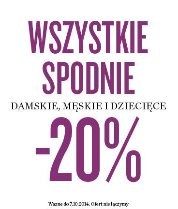 20% rabatu na spodnie damskie, męskie i dziecięce @ KappAhl