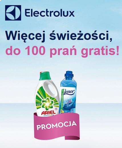 Przy zakupie pralki Electrolux, zapas płynu Ariel i koncentratu Lenor