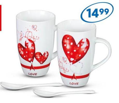 Zestaw kubków w Pepco na Walentynki