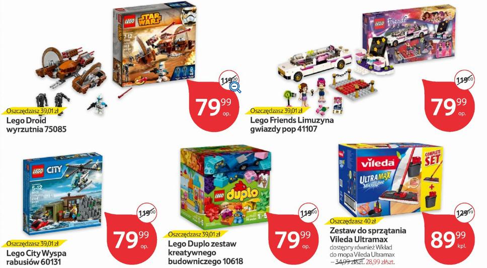 Zestawy Lego po 79,99zł (Droid wyrzutnia, City Wyspa...) @ Tesco