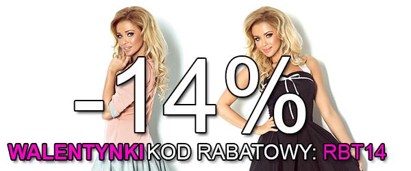 Rabat 14% na Walentynki
