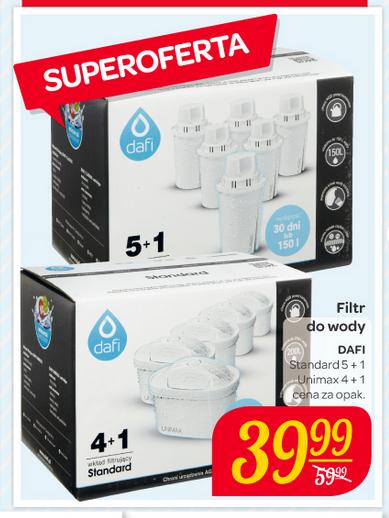 Filtry do wody Dafi w Carrefour z 59,99 zł na 39.99 zł