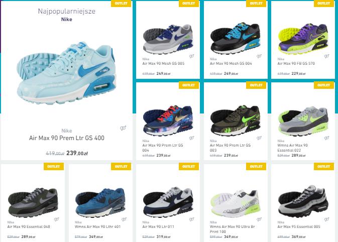 Buty Nike Air Max 90/95 od 229zł @ Eastend