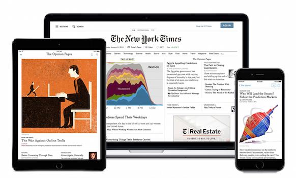 4 tygodnie darmowej prenumeraty e-wydania @ New York Times