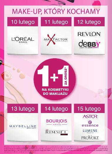 -45% na drugie perfumy oraz 1+1 za GROSZ (make-up) @ Super-Pharm