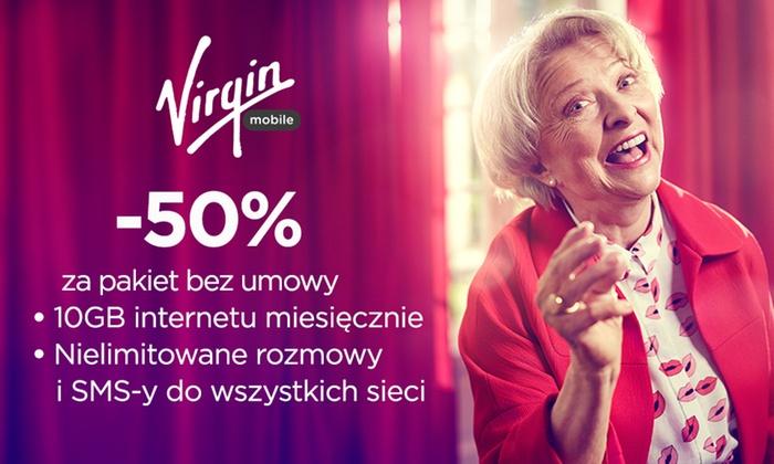 Groupon -50% rabatu na 6 miesięcy (pakiet #DlaMnieSuper) @ Virgin Mobile