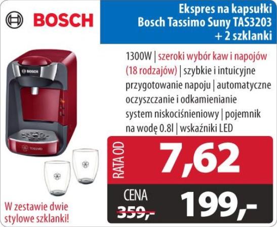 Ekspres na kapsułki Bosch Tassimo Suny - Komputronik
