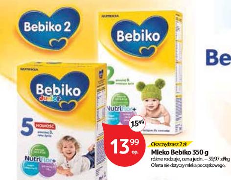 Mleko Bebiko 350g za 13,99zł, słoiczki BoboVita 190g (6 za 4) @ Tesco