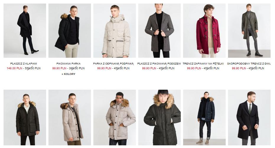 Męskie płaszcze oraz kurtki do prawie 80% taniej (ceny 99-149zł!) @ ZARA