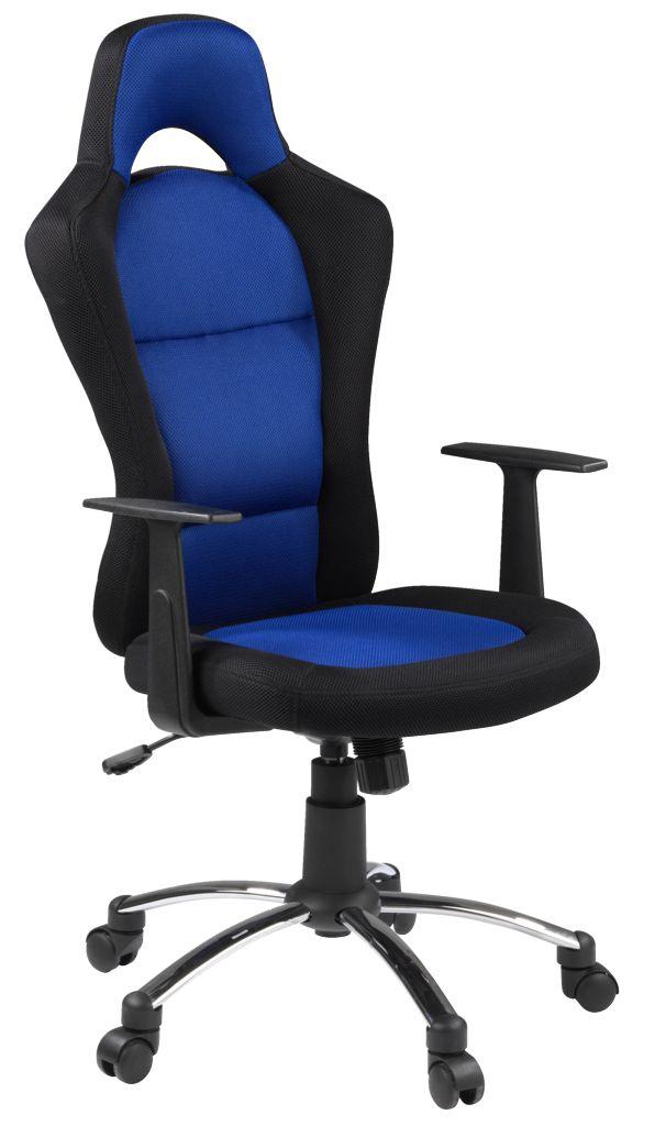 Krzesło biurowe czarno-niebieskie SNERTINGE (możliwy dodatkowy rabat 20zł) @ Jysk