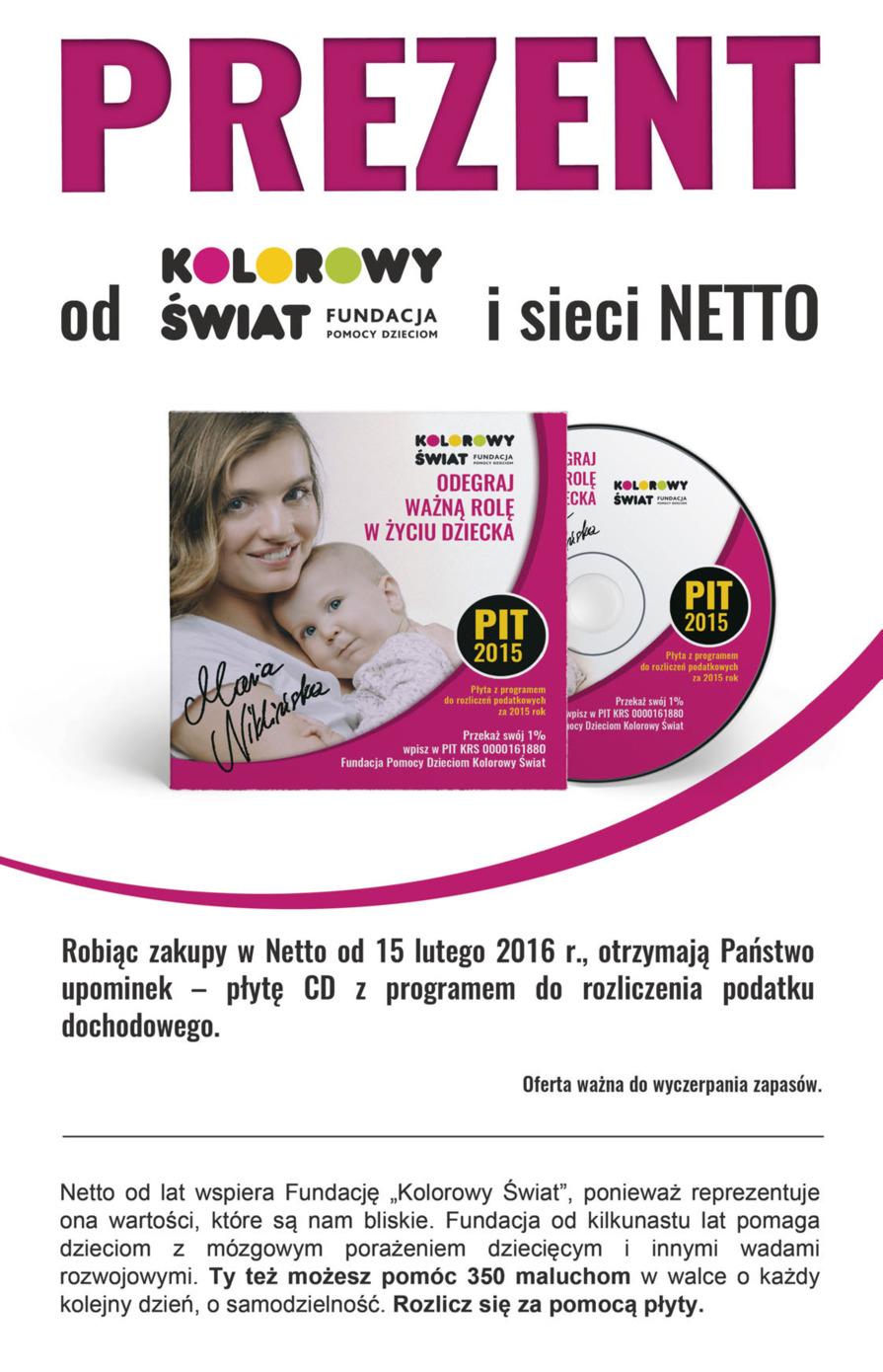 Płyta z programem do rozliczenia PIT przy dowolnych zakupach @ Netto