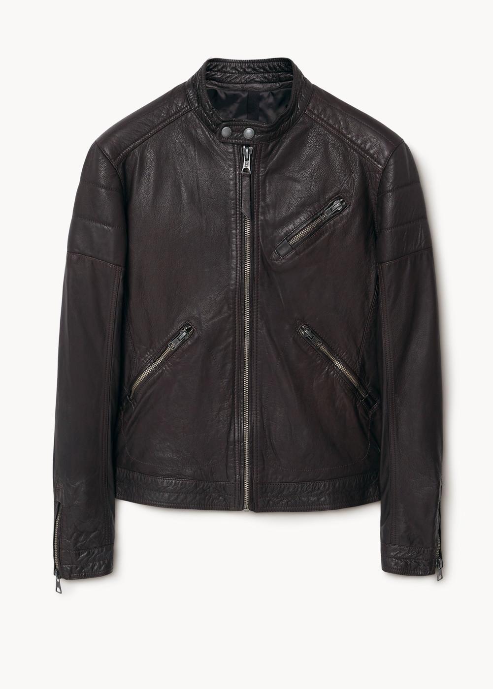 Męska skórzana kurtka biker 67% taniej (przecena z 929,90zł) @ Mango